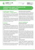 Bild zu Impfaktionen gegen Influenza in der Kranken- und Altenpflege