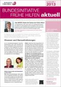 Bild zu Bundesinitiative Frühe Hilfen aktuell. Ausgabe 1/2013