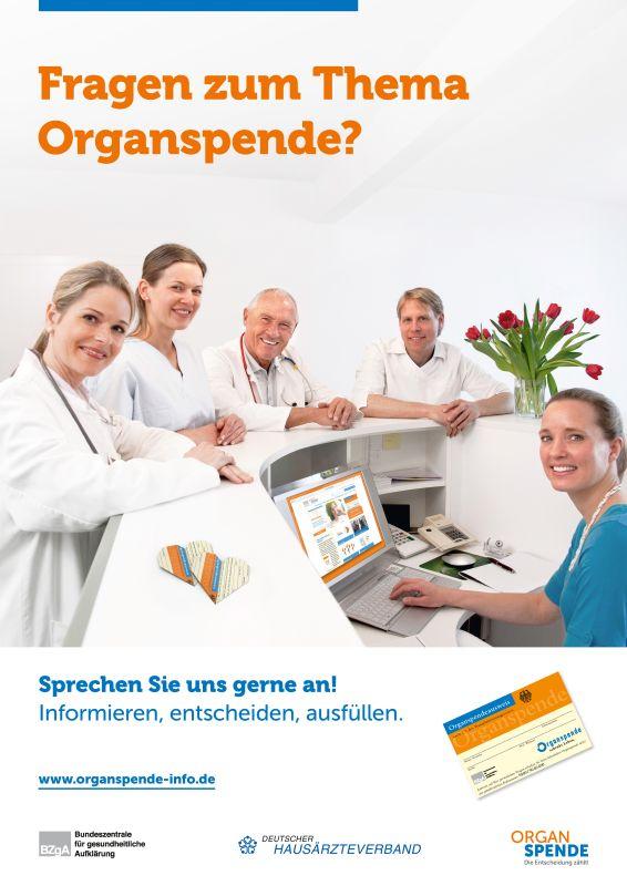 Organspende - Plakat für Arztpraxen