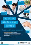"""Bild zu Plakat """"Richtig niesen und husten"""" für weiterführende Schulen"""