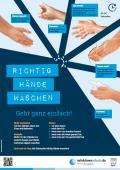 """Bild zu Plakat """"Richtig Hände waschen"""" für weiterführende Schulen"""