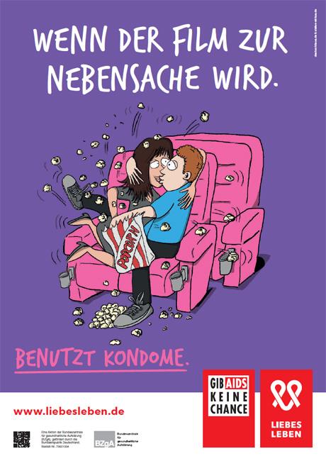 """Bild zu LIEBESLEBEN 2016 - Plakat Motiv """"Kino"""""""