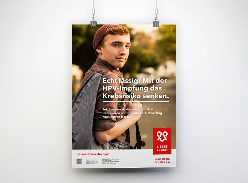 Bild zu HPV-Wartezimmerplakat für junge Männer