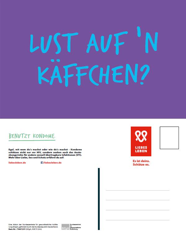 """Bild zu LIEBESLEBEN Postkarte Motiv """"Lust auf 'n Käffchen?"""""""