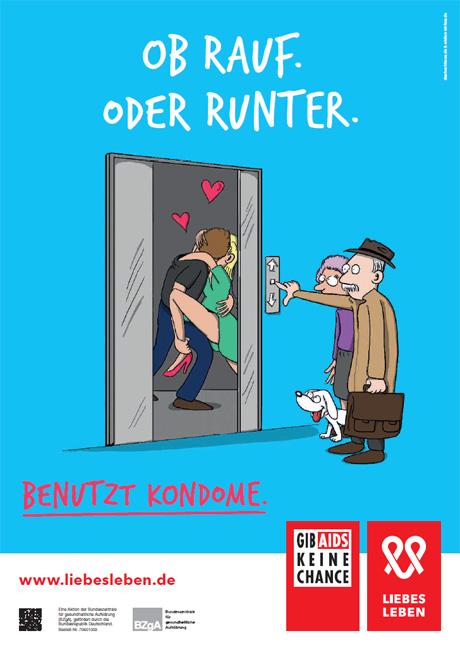 """Bild zu LIEBESLEBEN 2016 - Plakat Motiv """"Aufzug"""""""