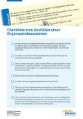 Abbildung - Checkliste für die Erklärung zur Organ- und Gewebespende (6-Seiter)