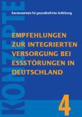 Titelseite der Broschüre: Konzepte Band 4: Empfehlungen zur integrierten Versorgung bei Essstörungen in Deutschland