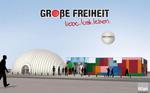 """Logo und Grafik der Ausstellung """"GROßE FREIHEIT - liebe.lust.leben."""""""