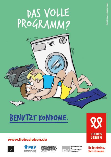 """Bild zu LIEBESLEBEN 2017 - Plakat Motiv """"Das volle Programm"""""""