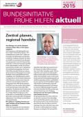 Bild zu Bundesinitiative Frühe Hilfen aktuell. Ausgabe 2/2015