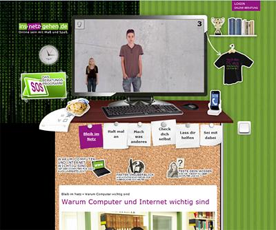 Screenshot der Internetseite www.ins-netz-gehen.de