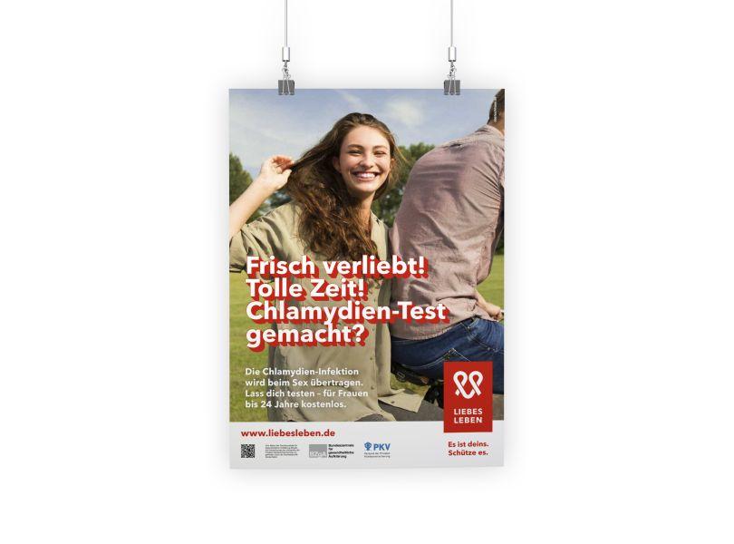Bild zu Chlamydien-Wartezimmerplakat für junge Frauen