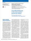 Titelseite Gesundheitsförderung in den Lebenswelten gemeinsam stärken
