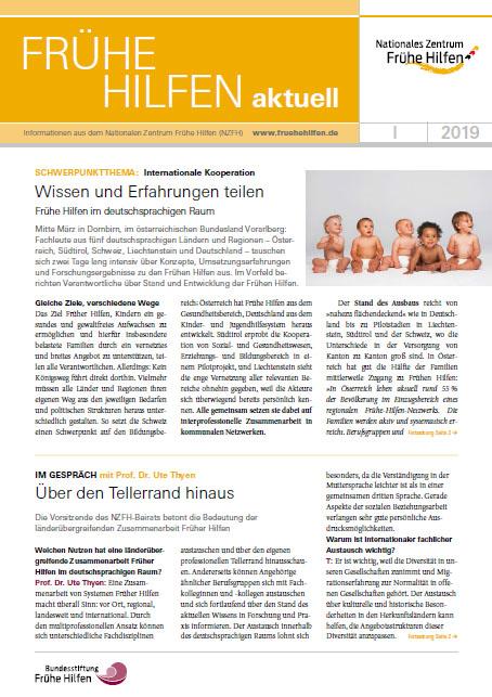 Frühe Hilfen aktuell. Ausgabe 1/2019