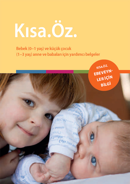 Titelseite der Mappe KURZ.KNAPP. - Türkisch
