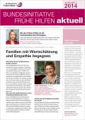 Bild zu Bundesinitiative Frühe Hilfen aktuell. Ausgabe 2/2014