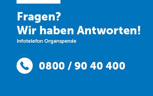 Visitenkarte Infotelefon Organspende