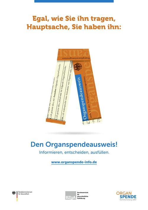 Ein wichtiges Thema: Organspende & Organspendeausweis