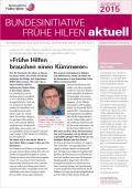 Bild zu Bundesinitiative Frühe Hilfen aktuell. Ausgabe 4/2015