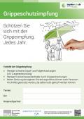Bild zu Plakatvorlage Impfaktion Grippe, Version B