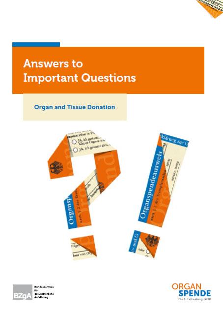 Bild zu Organspende - Antworten auf wichtige Fragen - Englisch