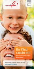 Titelseite des Faltblatts: Ihr Kind raucht mit