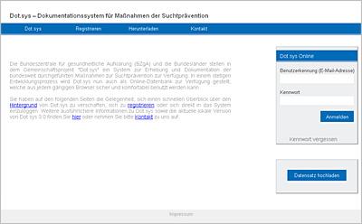 Screenshot der Internetseite www.dotsys-online.de