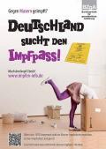"""Bild zu Plakat """"Deutschland sucht den Impfpass"""" - Motiv Karton"""
