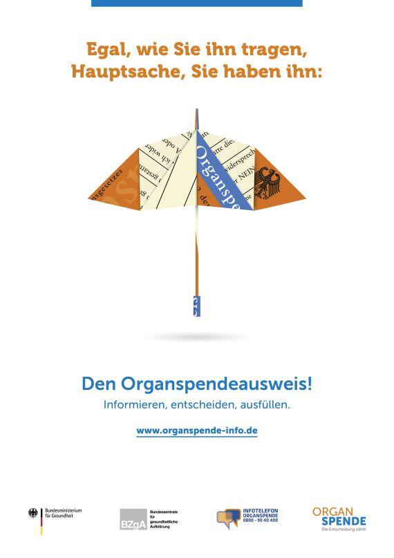 Bild zu Organspende Plakat A2 - Motiv: Regenschirm