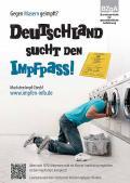 """Bild zu Plakat """"Deutschland sucht den Impfpass"""" - Motiv Waschmaschine"""
