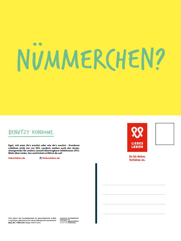 """Bild zu LIEBESLEBEN Postkarte Motiv """"Nümmerchen"""""""