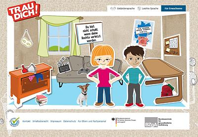 Screenshot der Internetseite www.trau-dich.de