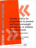 cover of the brochure: Quality criteria for programmes to prevent and treat overweight and obesity in children and adolescents