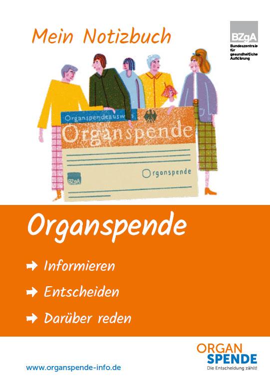 Bild zu Notizbuch Organspende