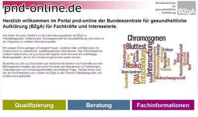 Screenshot der Internetseite www.pnd-online.de