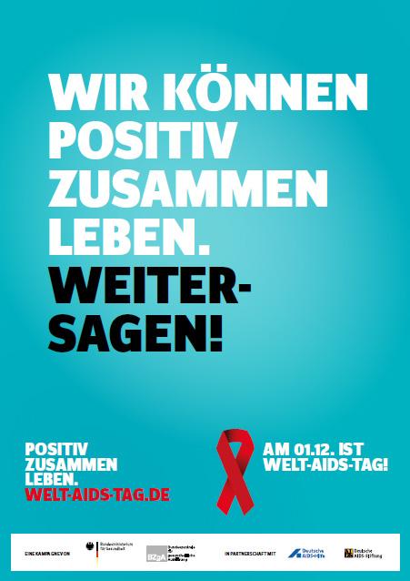"""Bild zu DIN A6-Infoflyer zur Kampagne """"Positiv zusammen leben"""""""