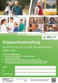 Bild zu Plakatvorlage Impfaktion Grippe, Version A