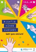 """Bild zu Plakat """"Richtig Hände waschen"""" für Kindertagesstätten"""
