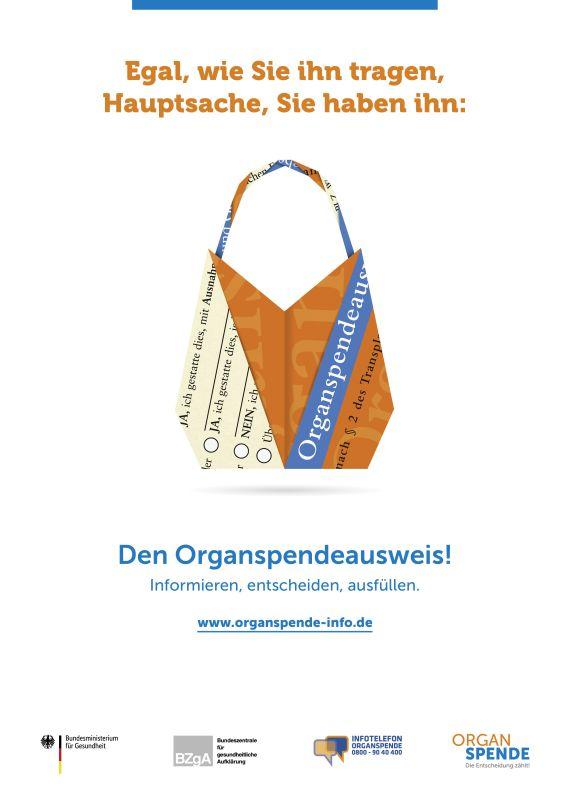 Bild zu Organspende Plakat A2 - Motiv: Tasche