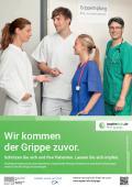 """Bild zu Plakat """"Wir kommen der Grippe zuvor"""" - Medizinisches Personal"""