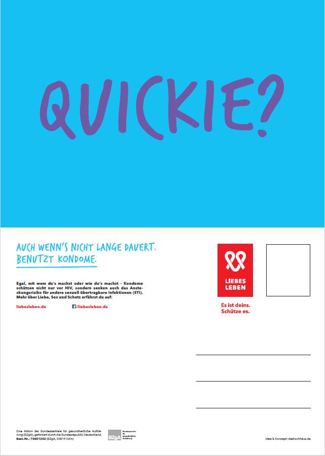 """Bild zu LIEBESLEBEN Postkarte Motiv """"Quickie?"""""""