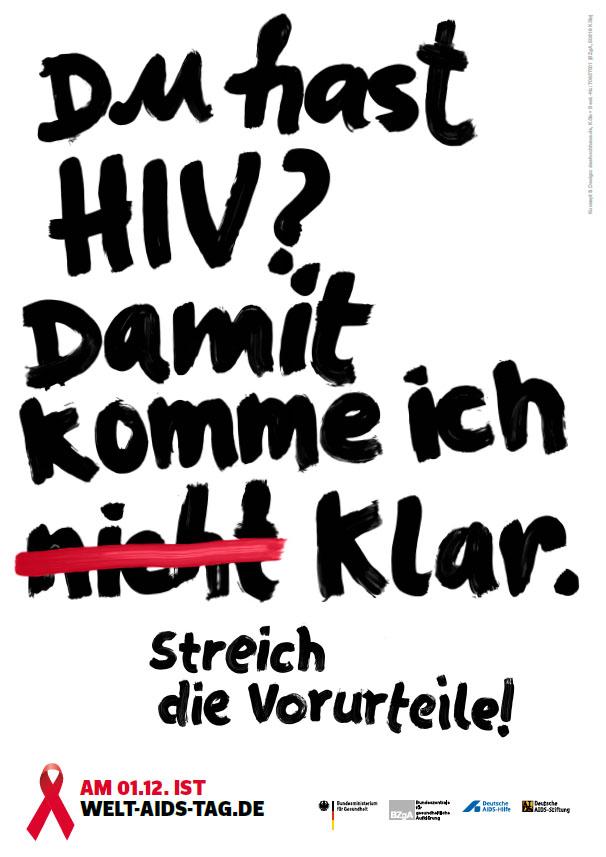 """Bild zu DIN A1-Innenraumplakat """"Du hast HIV? Damit komme ich klar!"""""""