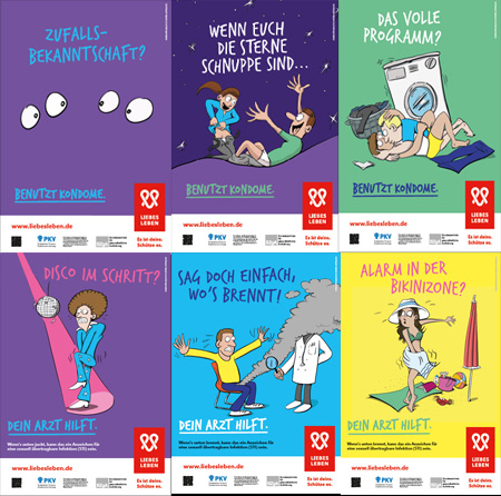 Bild zu Plakatserie LIEBESLEBEN 2017 - Set mit 6 Plakaten
