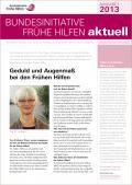 Bild zu Bundesinitiative Frühe Hilfen aktuell. Ausgabe 2/2013