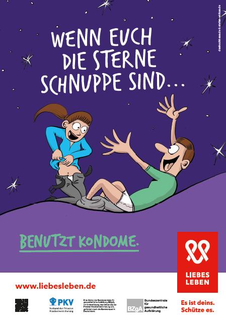 """Bild zu LIEBESLEBEN 2017 - Plakat Motiv """"Wenn euch die Sterne schnuppe sind"""""""