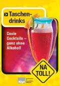 Titelseite des Faltblattes: NA TOLL! Taschendrinks
