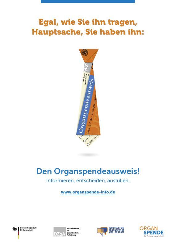 Bild zu Organspende Plakat A2 - Motiv: Krawatte