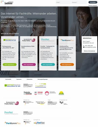 Screenshot der Internetseite www.inforo.online