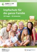 Titelseite der Broschüre: Impfschutz für die ganze Familie. 20 Fragen - 20 Antworten