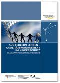 Titelseite der Broschüre: Aus Fehlern lernen – Qualitätsmanagement im Kinderschutz